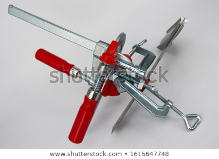 Red Clamp Tool Perspective Stock photo © albund