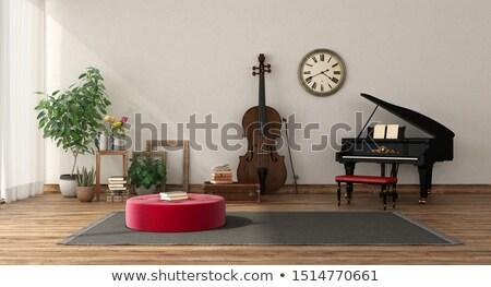 hangfalak · fehér · kettő · fekete · zene · terv - stock fotó © anterovium