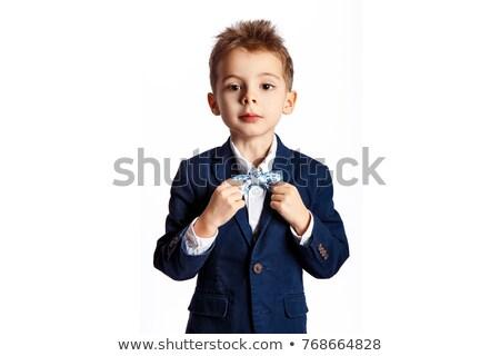 little boy wearing a tie stock photo © pxhidalgo