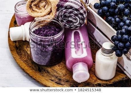Stockfoto: Rijp · druiven · vers · groene · druiven · wijnstok · zomer