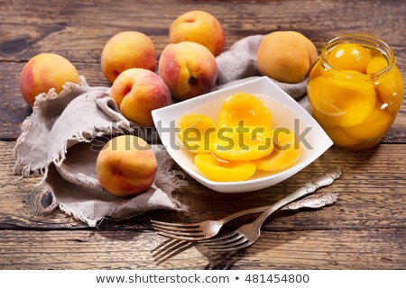 canned peaches Stock photo © Peredniankina