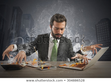 Weary businessman Stock photo © goosey