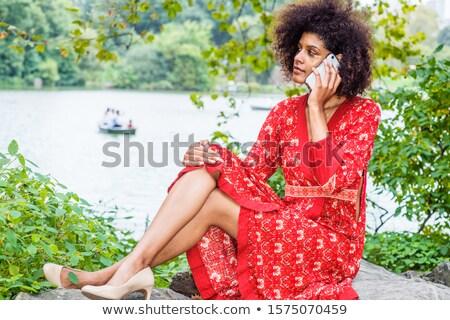 Girl in city park Stock photo © Aikon