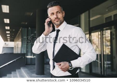 ビジネスマン フォルダ クローズアップ ビジネス 紙 ストックフォト © jackethead