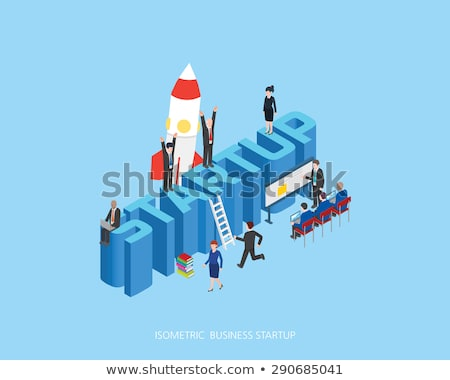 3d people lined up on a starting line stock photo © kirill_m