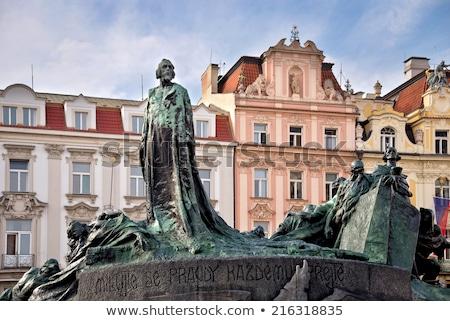 Statue of jan Hus Stock photo © artush