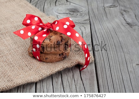 festive wrapped chocolate pastry cookies stock photo © natika