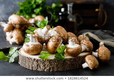 champignon · gomba · friss · petrezselyem · izolált · fehér - stock fotó © natika