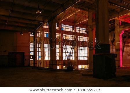 Yıkım eski bina ağır makinalar yeni inşaat Stok fotoğraf © 5xinc