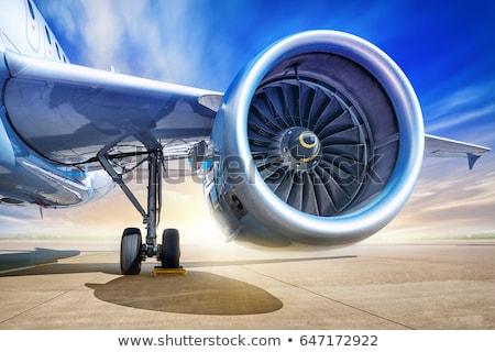 Repülőgép gép égbolt nap kék utazás Stock fotó © m_pavlov