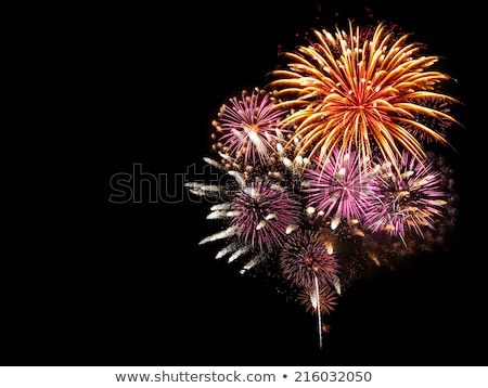 colorful fireworks isolated on black background stock photo © nejron