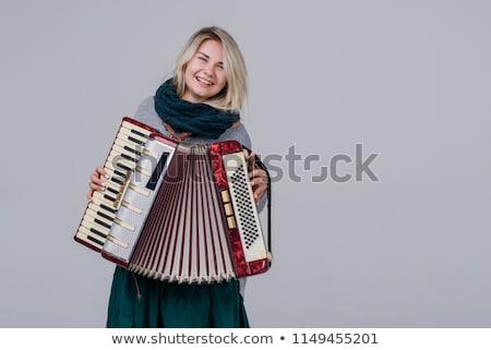 аккордеон молодые музыку девушки Сток-фото © Pavlyuk