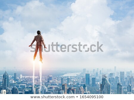 superhero businessman in flight Stock photo © leeavison