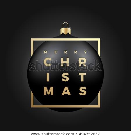 golden black christmas ball decoration stock photo © franky242