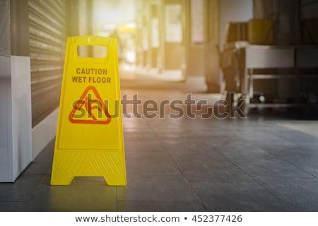 plastic sign stairs stock photo © michaklootwijk