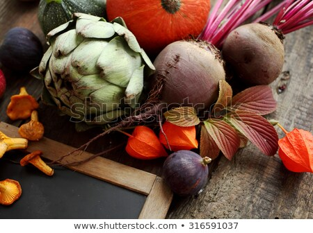Fall vegetables as a background including pumpkins Stock photo © beholdereye