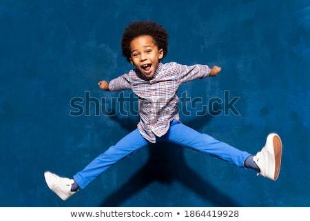 Breakdance sylwetki taniec przerwie biały Zdjęcia stock © Lom