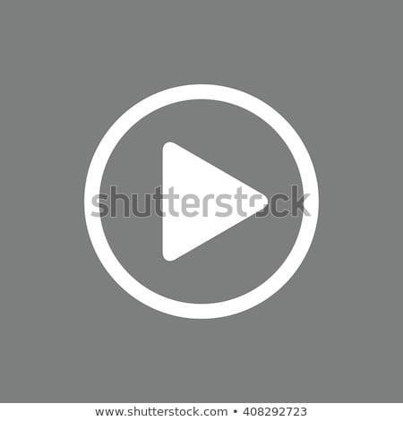 Spelen knop icon film app symbool Stockfoto © fenton