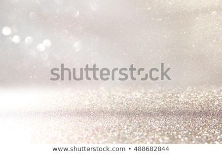 銀 · グリッター · テクスチャ - ストックフォト © zerbor