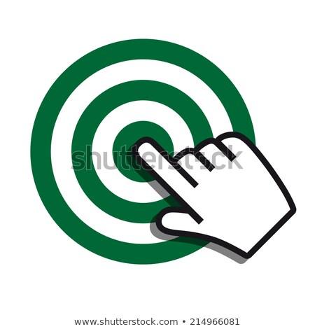 Achieving goal icon green gray colors Stock photo © aliaksandra