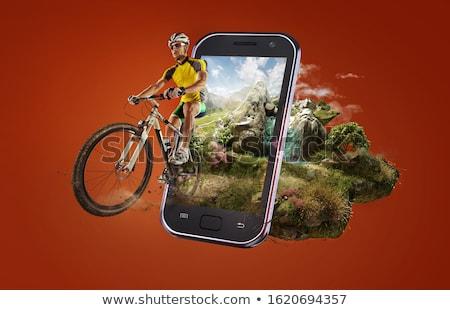 rowerzysta · owoce · warzyw · kobiet · jazda · konna - zdjęcia stock © naumoid