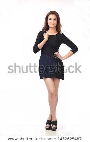 Seductive Slim Woman in Black Underwear Stock photo © dash