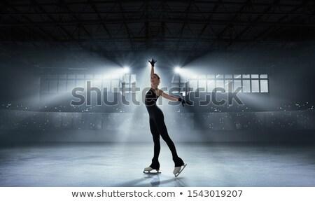 Cijfer skater meisje vrouw ijs schaatsen Stockfoto © Kor