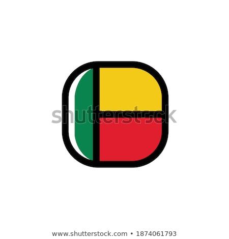 Botão símbolo Benin bandeira mapa branco Foto stock © mayboro1964