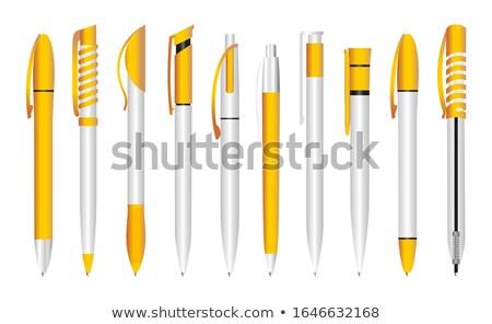 Ink Pen Yellow Vector Icon Design Stock photo © rizwanali3d