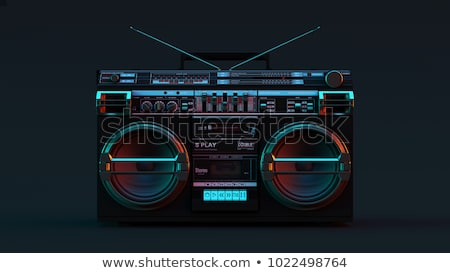 boombox Stock photo © oblachko
