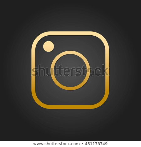 gold social media icons stock photo © ylivdesign