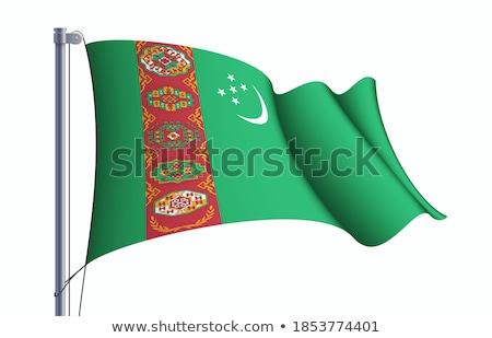 Turkmenistan · offiziellen · Flagge · Design · Welt · Mond - stock foto © mayboro1964