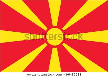 Banderą Macedonia wykonany ręcznie placu streszczenie Zdjęcia stock © k49red