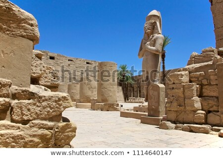 Pharaoh's statue in Karnak temple Stock photo © eleaner