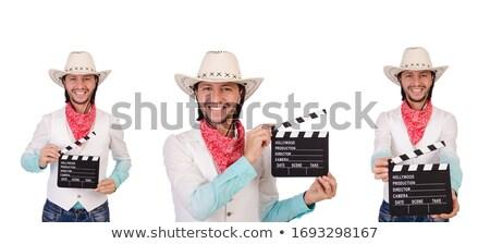 Cowboy Aiming Revolver Stock photo © Kakigori