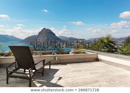 Hermosa terraza ático lago fuera cielo Foto stock © alexandre_zveiger