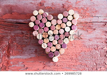 Plenty of Wine Bottle Corks in Heart Shape Stock photo © ozgur