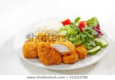 куриные · риса · хлеб · мяса · интерьер · орехи - Сток-фото © ironstealth