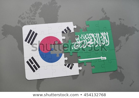 South Korea and Saudi Arabia Flags in puzzle Stock photo © Istanbul2009