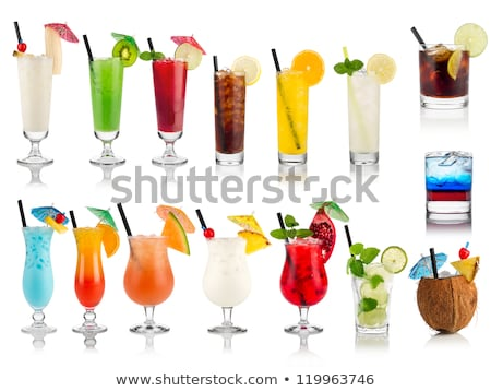smoothie in a cocktail glass with fresh fruits stock photo © zerbor
