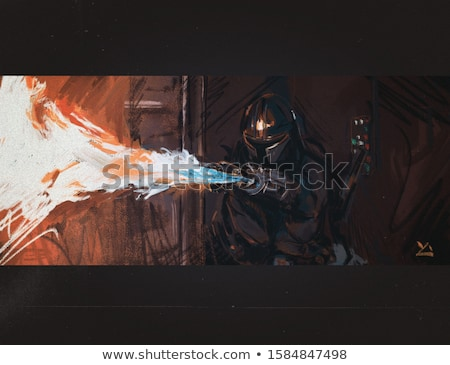 человека огня пушки белый портрет Сток-фото © vtupinamba