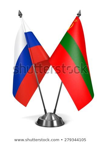 Rusia miniatura banderas aislado blanco fondo Foto stock © tashatuvango