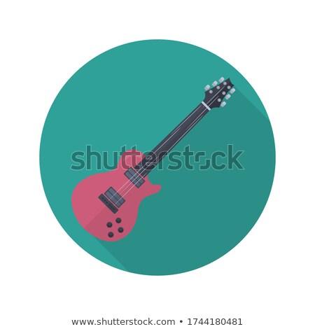 muziek · string · gitaar · illustratie · lang · schaduw - stockfoto © anna_leni