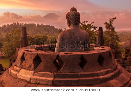 Buddist temple Borobudur, Yogyakarta, Java, Indonesia Stock photo © JanPietruszka