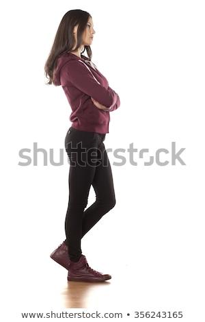 スポーツ 若い女性 立って 腕 折られた 肖像 ストックフォト © deandrobot