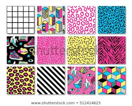 retro 80s comic pattern background stock photo © cienpies