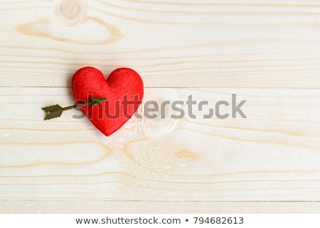 Vermelho veludo corações casal isolado branco Foto stock © Mikko