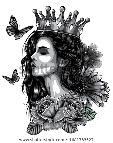 Tattoo prinses gothic meisje luipaard print Stockfoto © fatalsweets