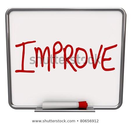 Jobb fejlesztés szavak üzletasszony férfi kezek Stock fotó © fuzzbones0