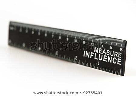 środka wpływ władcy czarny moc narzędzie Zdjęcia stock © fuzzbones0